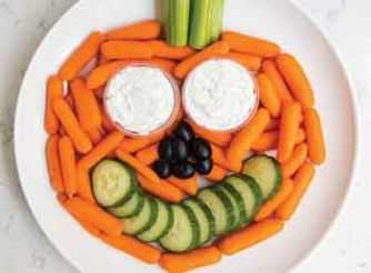 Pumpkin Shaped Vegetable Platter