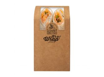 Gourmet Norwegian Smoked Salmon & Capers Brown Wrap