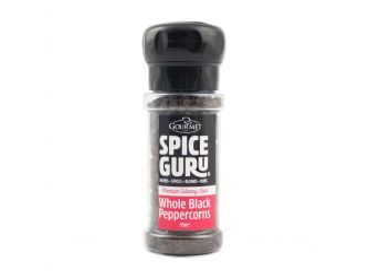Spice Guru Whole Black Peppercorn Grinder