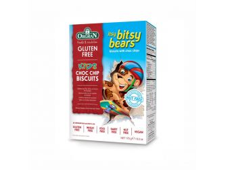 Orgran Itsy Bitsy Bears Choc Chip Cookies