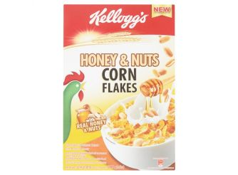 Kellogg's Honey Crunch Corn Flakes Breakfast Cereal