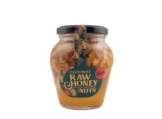 Gourmet Raw Honey with Nuts & Cinnamon