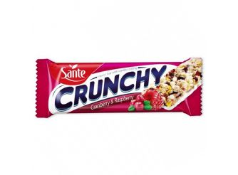 Sante Vanilla-coated Crunchy Bar with Cranberry and Raspberry